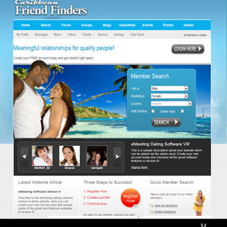 Dating Design CMS|website design