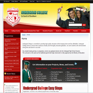 Education and School Design CMS|website design