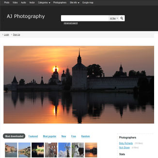 Photography Website Design CMS|website design